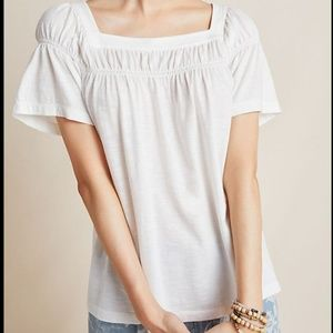 Anthropologie Beaufort Blouse Ivory